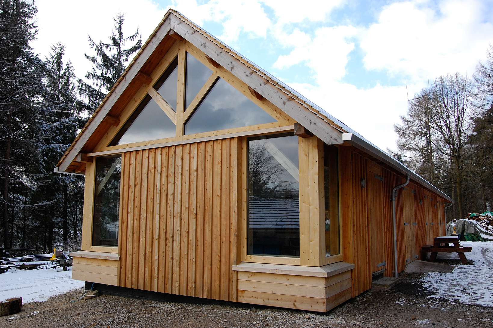 Larch Timber Framed Workshop
