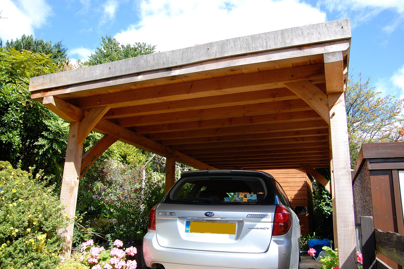 Car Port with a Green Roof
