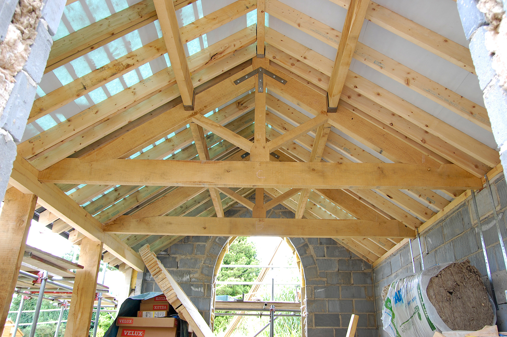 King Post Trusses, Air dried Oak