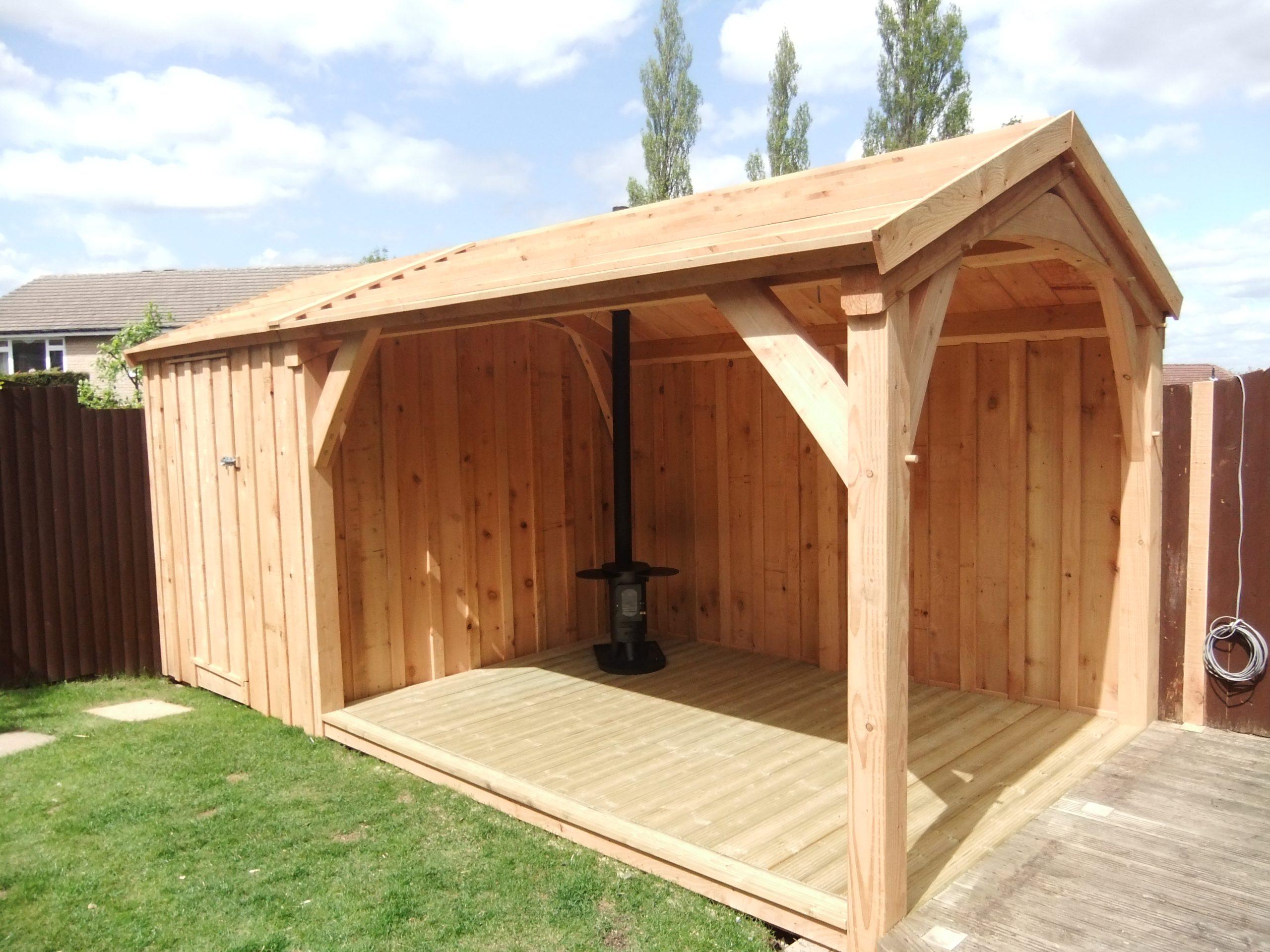Timber Framed Garden Shelter