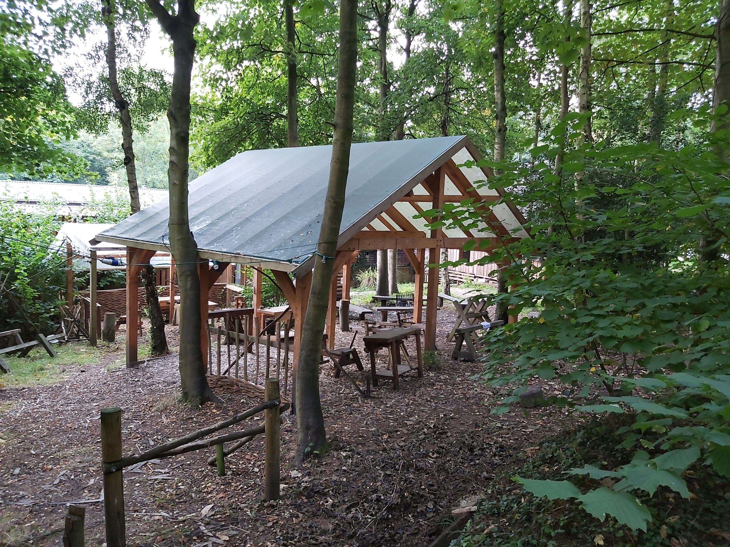 Timber Framed Craft Shelter
