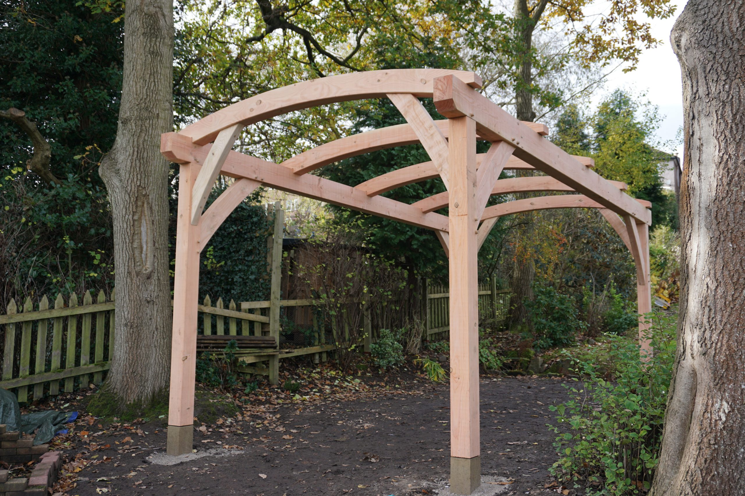 Arched Timber Framed Pergola