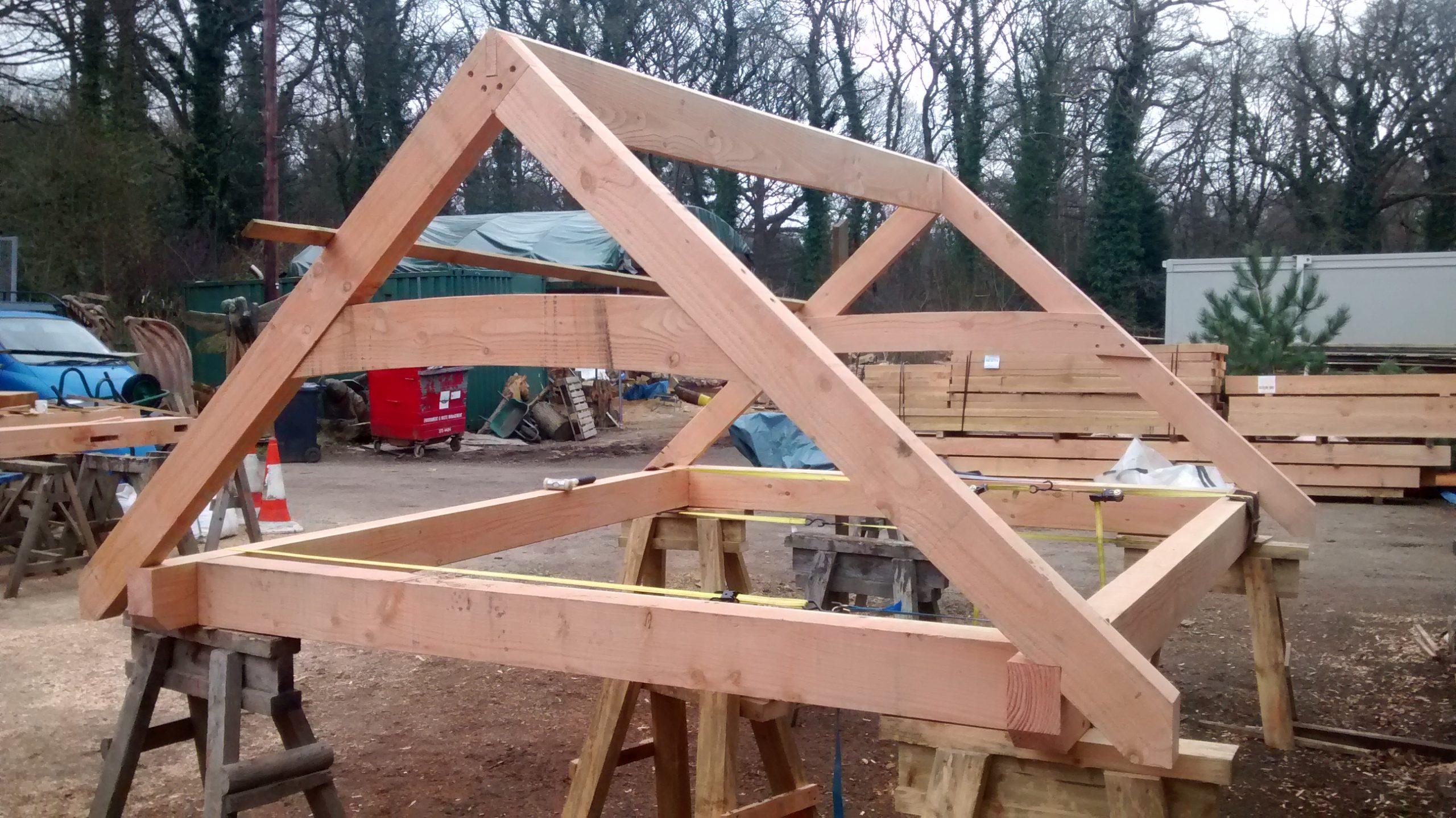 Timber Framed Log Store